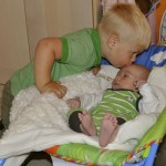 Noah kissing Liam