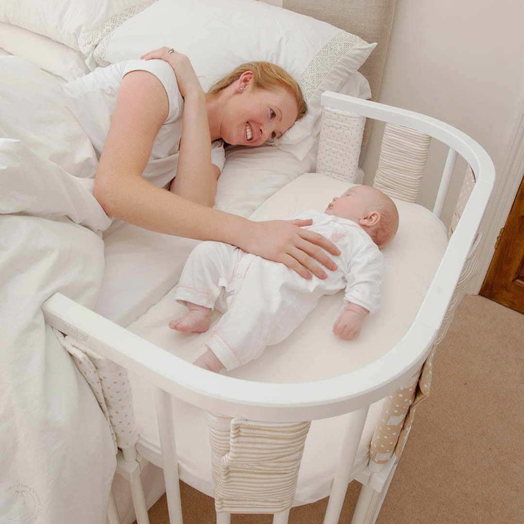 A firm and flat sleep area that is made for infants, like a safety-approved* crib or bassinet, and is covered by a fitted sheet with no other bedding or soft items in the sleep area is recommended by the AAP to reduce the risk of SIDS and other sleep-related causes of infant death.