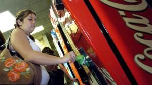 kid at vending machine