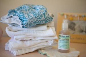 cloth diapers and wipes