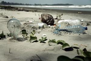 garbage on beach