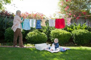 hang dry laundry