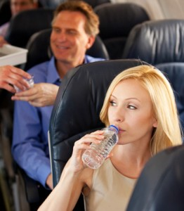 drinking-water-on-a-plane