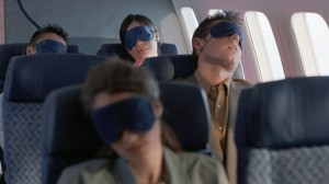 sleeping on airplane