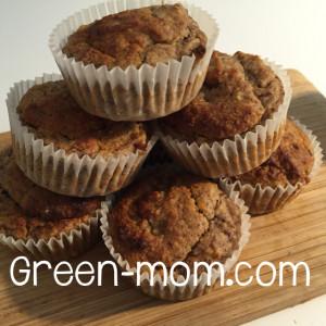 Vegan banana gluten free muffin