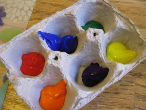Egg carton for paint