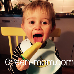 Liam eating popsicle
