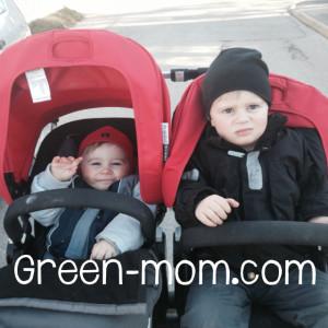 kids in stroller