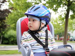 kid with bike helmet