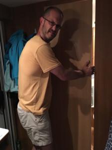 campervan door broken