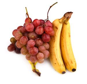 banans and grapes