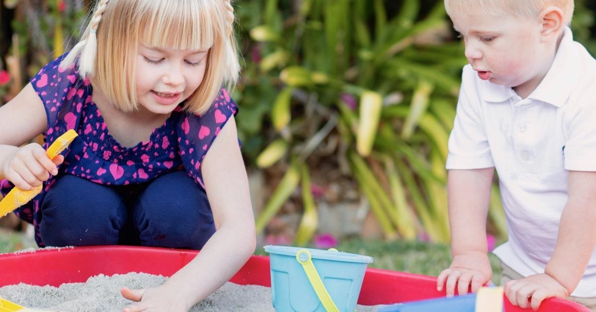 Kids Playing in Sandbox