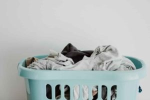 Laundry Hamper with Clothes